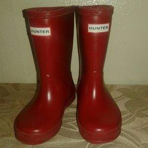 Childrens Red Hunter Rain Boots
